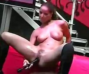 Better than a car show - Angel Dark toying on stage