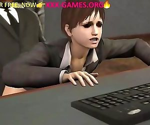 Boss fuck at work in 3d porn game 55 sec HD