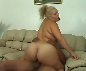 Horny blonde LatinBBW moans as her wet pussy is banged hard by a black hunk 23 min