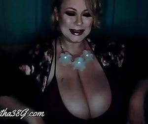 Sexy lingerie, robe & cute nightie on curvy Samantha38g live cam show archive part 1 31 min 1080p