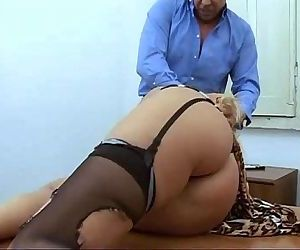 Amazing mature blonde abused in a job interview