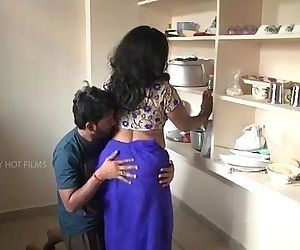 Indian mother and son romance in kitchen - 13 min
