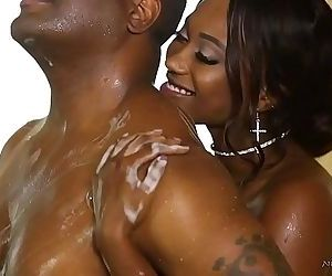 Hot nuru massage with a booty ebonySkyler Nicole, Tyler KnightHD