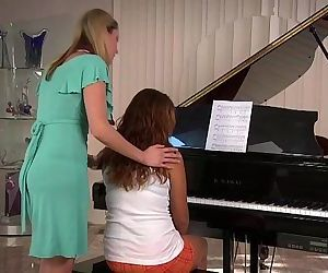 Samantha Ryan and Allie Haze at the PianoHD