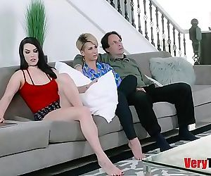 Raven Reign fucks daddy infront of mom! 8 min HD