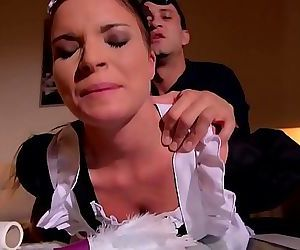 Petite maid Anita B. humiliated & ass fucked by her boss until she orgasms 23 min HD+