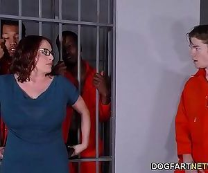 Busty Maggie Green Has Interracial Threesome In JailHD
