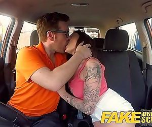 Fake Driving School Spanish kitty cat rides cock 8 min HD+