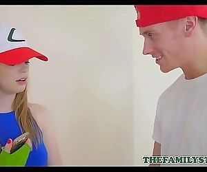 Cute Blonde Teen Stepsister Dolly Leigh Has Sex With Her Stepbrother For Rare Pokemon 8 min 720p