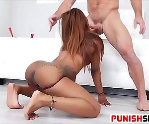 Black Sex slave Sarah Banks Punished Deep in her Gaping Asshole 6 min